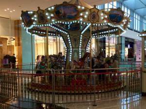 inside Dubai Mall: a merry-go-round...