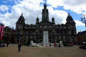 View on City Hall from George Square