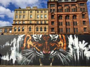 more street art, at the banks of the river Clyde