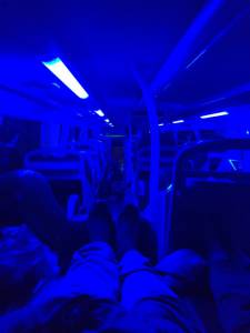 On the sleeper bus