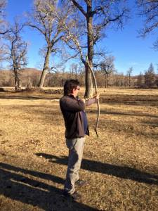 learning archery...