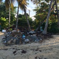Litter at beach in Las Terrenas