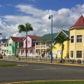 colourful houses in Samana