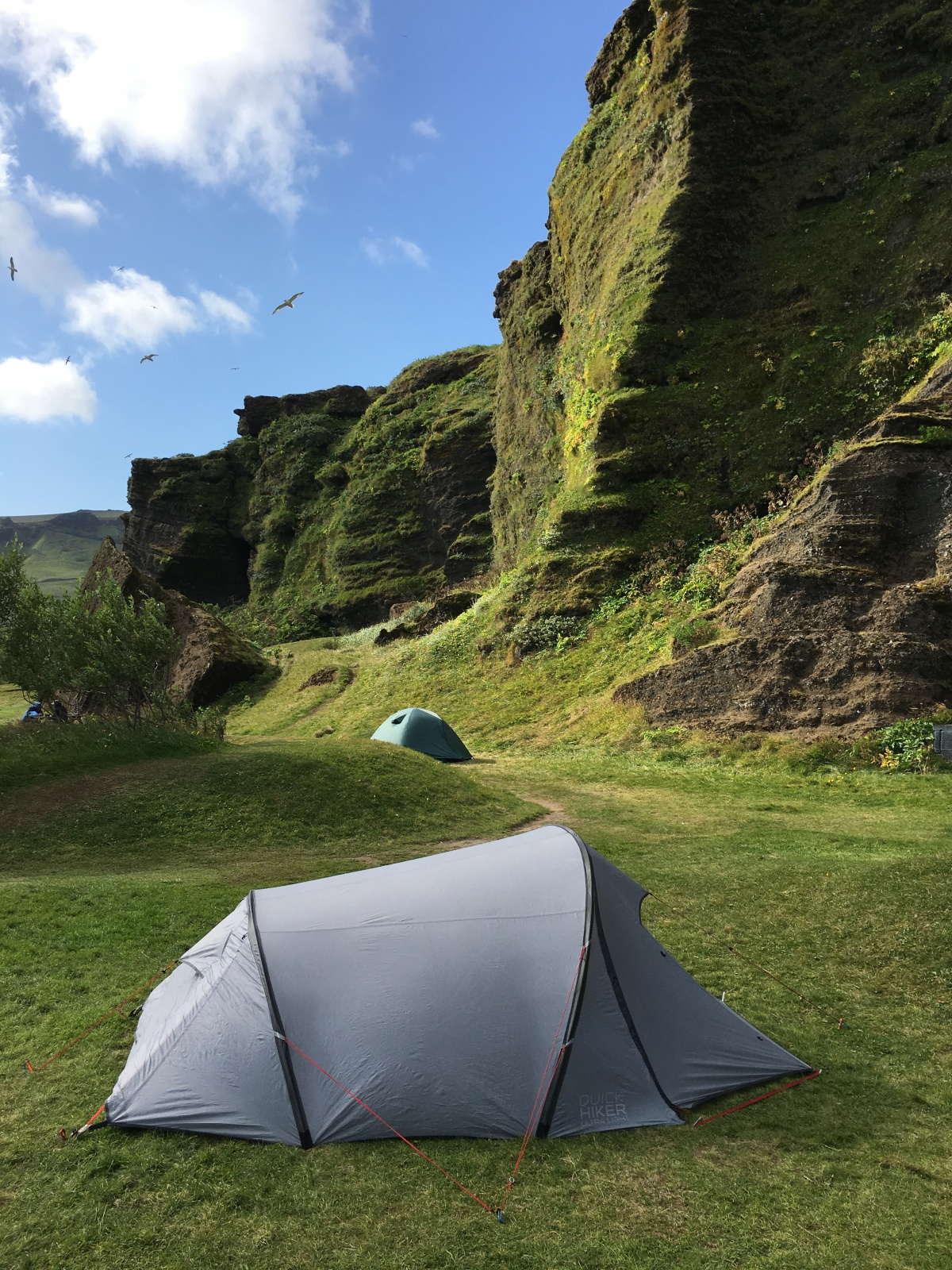 Picture of our tent in Vik, Iceland