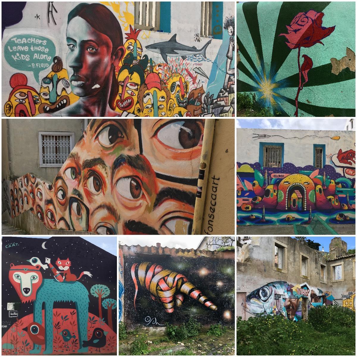 graffitis and murals