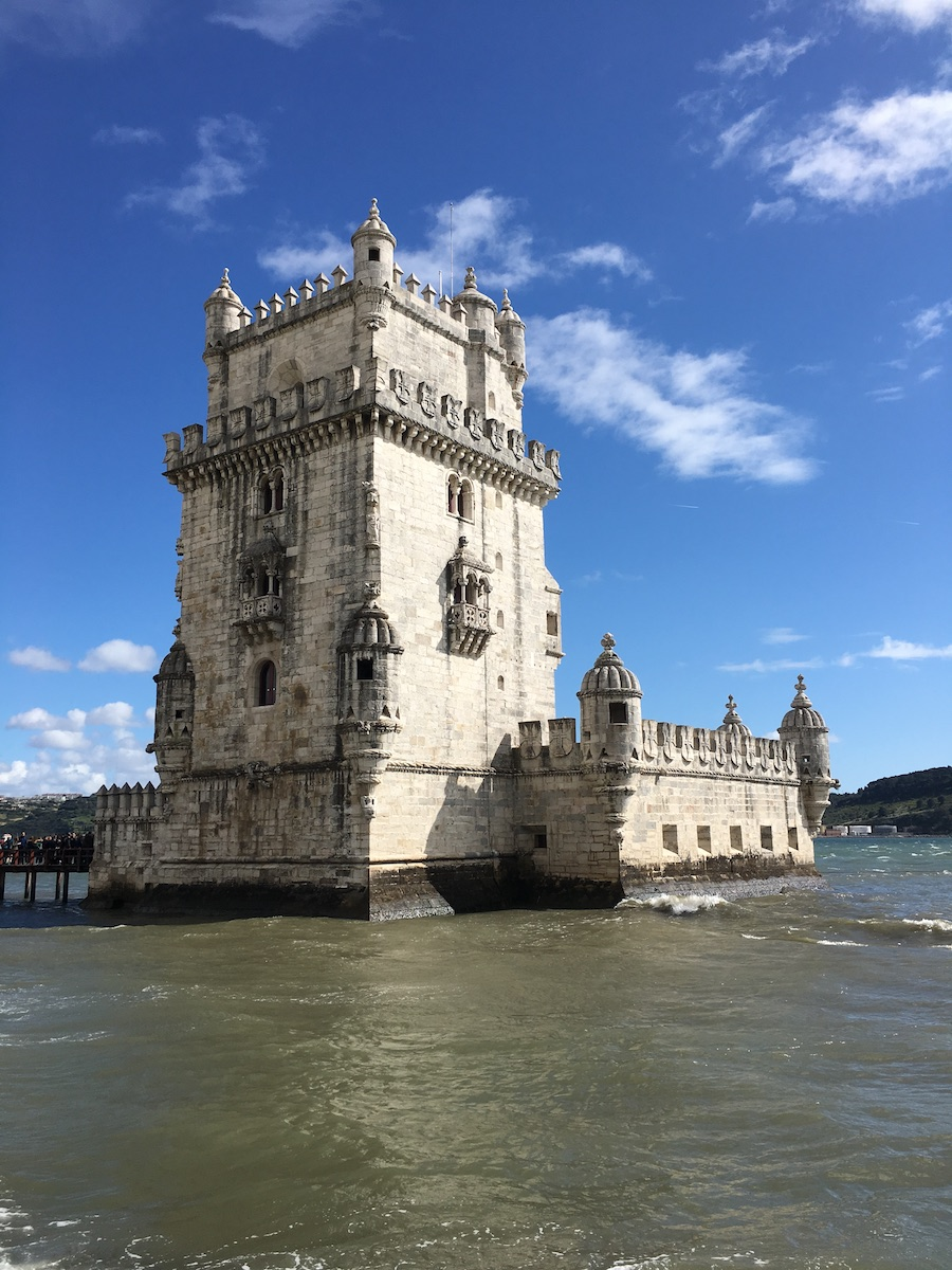 picture of tower of Belem standing in the water