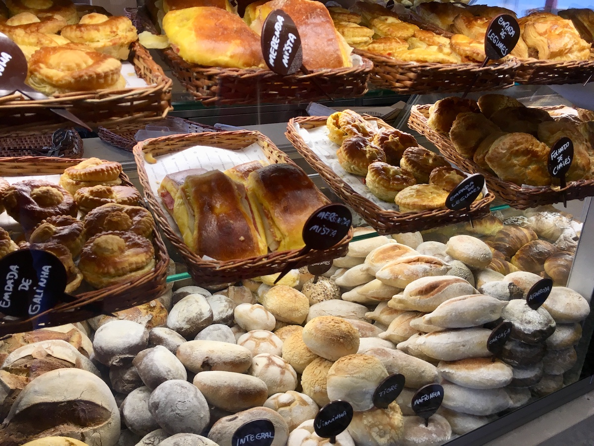 different rolls and pastries