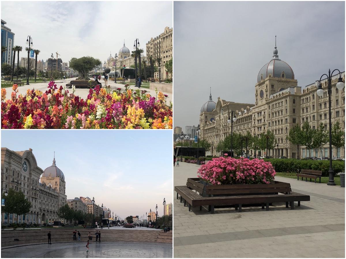19th century architecture and big square