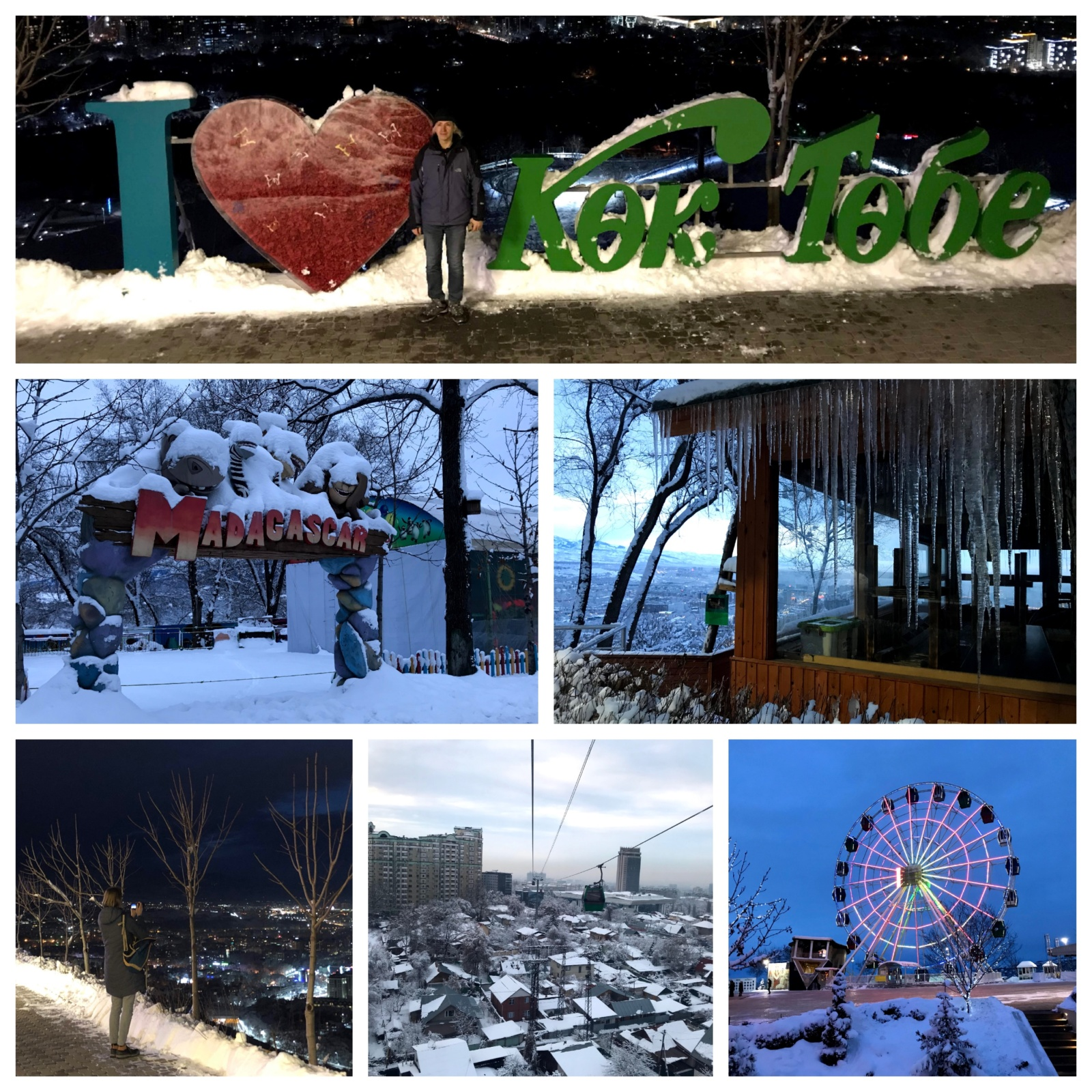 Pictures of the Feris Wheel and some attractions of koktobe